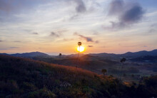 Sunrise At Khao Kho Viewpoint,Phetchabun,Thailand.