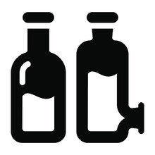 Download This Premium Icon Of Acid Bottles In Modern Solid Design