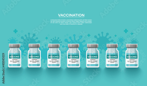 Canvas Print vaccine background