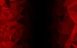 Dark Red vector blurry triangle template.
