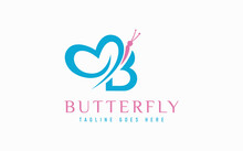 Abstract Letter B And Butterfly Combination Logo Design. Usable For Business, Community, Industrial, Foundation, Tech, Services Company.