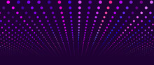 A Wave Of Musical Sounds. Abstract Background With Intertwining Multicolored Dots. EPS 10 Vector.