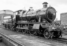 Steam Engine On A Railway Track