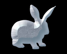 Rabbit Bunny Logo Icon Limestone Stone Sedimentary Rock Curving Illustration