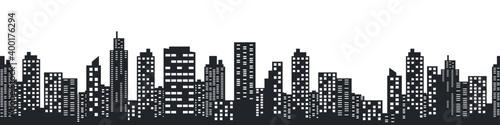 Obraz na plátně Night city skyline