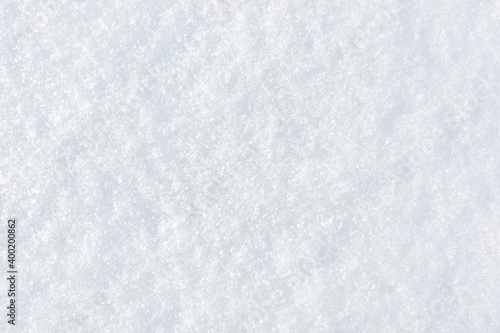 Obraz Fresh clean snow background. Frosty winter texture with snowflakes for design. - fototapety do salonu