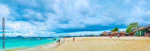 Panorama of white beach, Khai Nai island, Phuket, Thailand Fototapeta