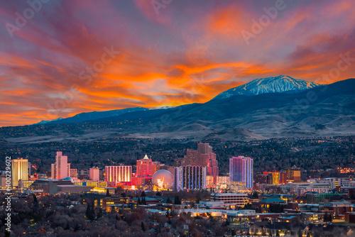 Fototapeta Reno, Nevada skyline obraz