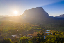 Aerial View Of Doi Luang Chiang Dao In Chiang Mai Province, Thailand