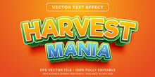 Editable Text Effect In Harvesting Game Style