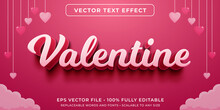 Editable Text Effect In Happy Valentines Day Style