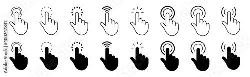 Obraz na plátně Hand cursor pointer  icon