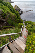 Ladder To Cape Horn Island, The Southernmost Point Of South America In Chile.