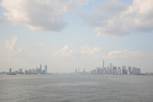 New York, NY, USA - May 30, 2019: View From Staten Island Ferry