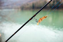 Fishing Lure On A Fishing Rod