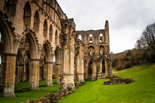 Ruins Of The Ancient Riveaulx Abbey, Yorkshire, United Kingdom