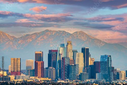 Obraz Los Angeles skyline - fototapety do salonu