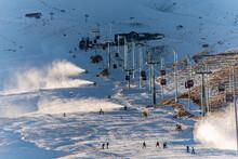 Snow Maker Machine, Snow Gun, Snow Cannon, For Production Of Snow On Ski Slopes, To Start The Ski Season When There Is Not Enough Snow