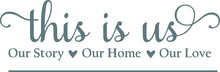This Is Us Our Story, Our Home, Our Love Family Concept Rules Logo Sign Inspirational Quotes And Motivational Typography Art Lettering Composition Design