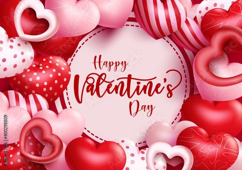Fotografia, Obraz Valentine's vector background template design