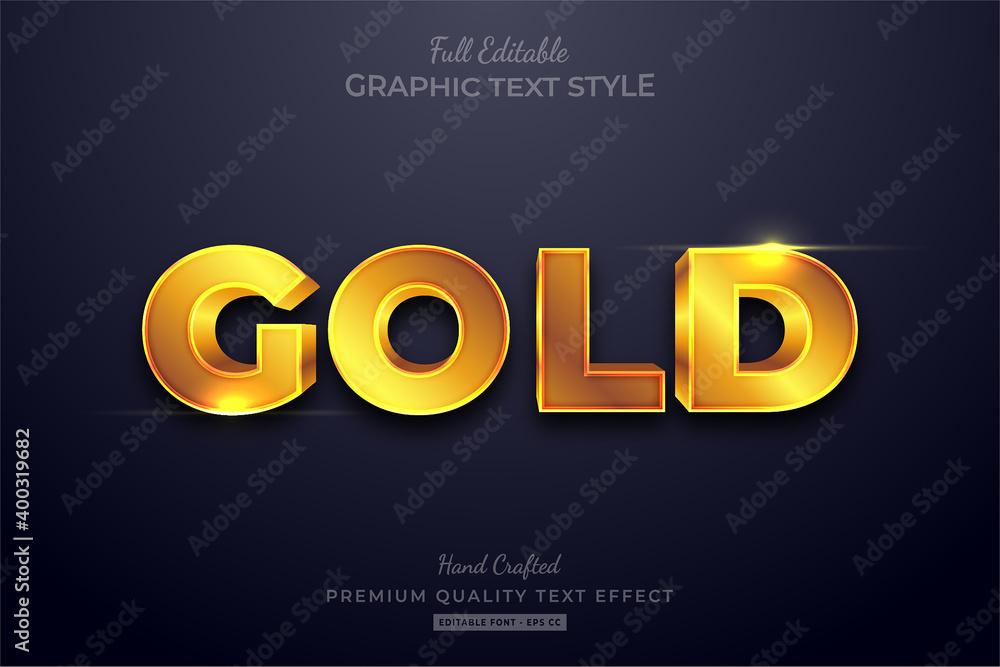 Fototapeta Gold Shining Editable Text Effect Font Style