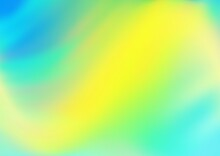 Light Blue, Yellow Vector Abstract Blurred Template.