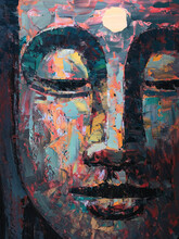 Buddha . Oil Painting