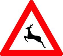 Wild Animals Crossing Sign