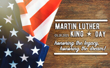 National Federal Holiday In USA  Martin Luther King Day MLK Background