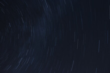 Background Night Sky With Star Trails