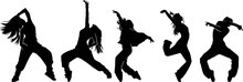Urban Dancer Pose Silhouette