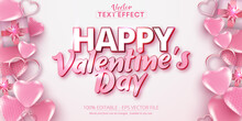 Valentine's Day Text, Calligraphic Style Editable Text Effect