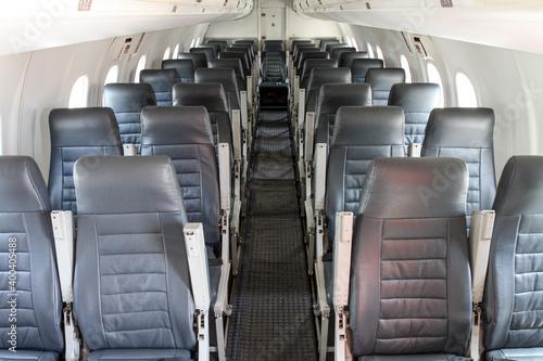 Foto Kabine eines Regionalflugzeuges