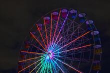 Ferris Wheel At Night In Belo Horizonte Pampulha Guanabara
