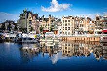 Morning Reflections Damrak Amsterdam