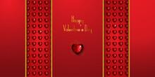 Happy Valentine's Day Paper Art, Red Diamond
