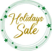 Illustration Sticker Card Banner Holidays Sale