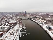 Snowy Hot Metal Bridge Pittsburgh