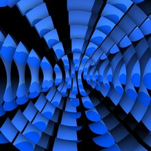Many Equal Royal Blue PVC Plastic Tubes As 3D Illustration Abstract Patterns And Designs Of A Modern Art Style