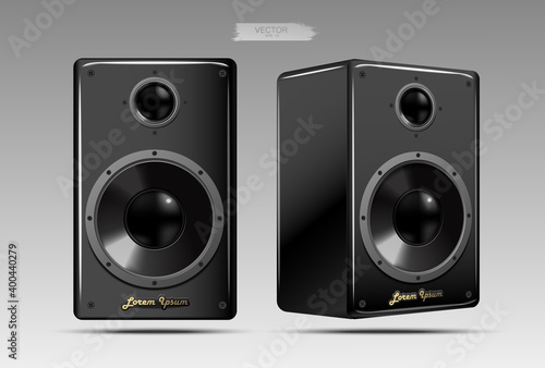 Fotografia A realistic pair of speakers.