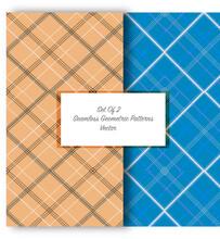 Set Of 2 Seamless Geometric Pattern With Diamonds Textile - Wallpaper - Background