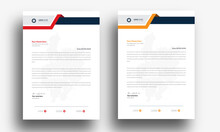 Letterhead Template In Abstract Style Design