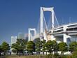 東京都 レインボーブリッジと東京港