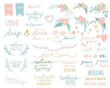結婚式やウエディングパーティーに使える手書き風素材