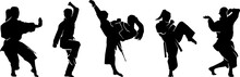 Female Karate Pose Collection