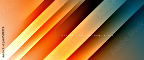 Leinwand Poster Fluid gradients with dynamic diagonal lines abstract background