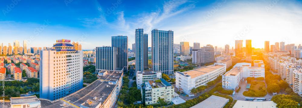 Fototapeta Urban scenery of Xiamen City, Fujian Province, China