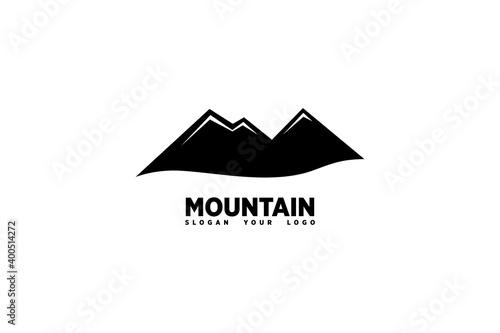 Valokuvatapetti Simple Mountain Logo