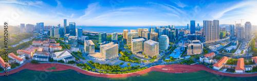 Canvas Print Scenery of CBD in Xiamen City, Fujian Province, China