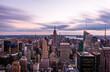MANHATTAN, NEW YORK CITY. Manhattan skyline and skyscrapers aerial view.